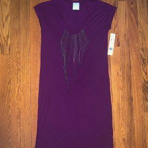 Nicole Miller Purple Mini Dress Size:Petite  NWT